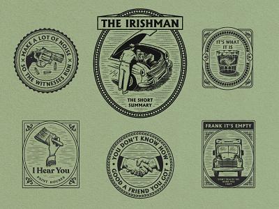 The Irishman italian lockups typogaphy stamp movie scorsese gangster stamp design vintage illustraion lockup film mob irishman irish type designer adobe graphic  design design