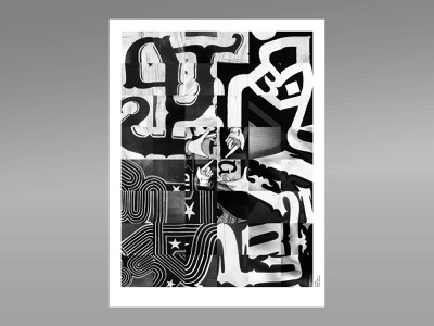 Sampled Type photography design indesign student work abstract design poster design poster mural woodtype hands abstract type abstract type black and white
