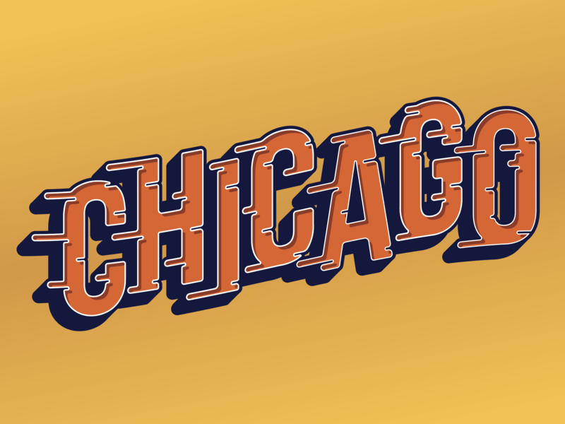 72d3e976 Chicago Lettering by Daniel Clark | Dribbble | Dribbble
