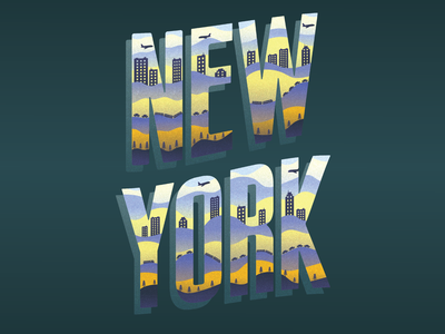 New York Typography america new york city the city that never sleeps lettering art illustrator graphic san serif ny new york lettering typography vector type illustration city dribbble designer adobe graphic  design design