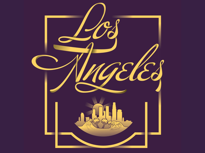 Los Angeles Type dribbble shot creative letters illustrator adobe city los angeles la california gold letter typography type graphic design graphic design lettering
