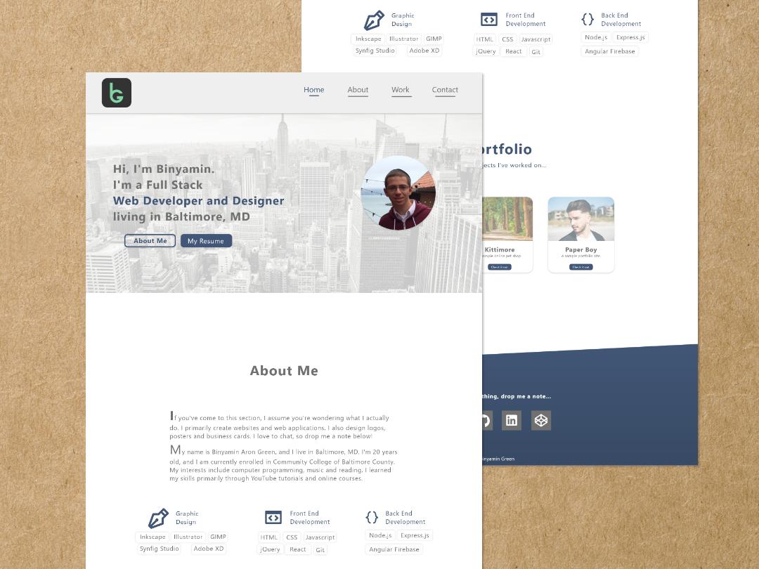 Personal Website design branding portfolio website ui