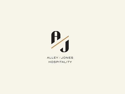 Alley / Jones Branding logo typography identity modern richmond hospitality business cards print collateral branding