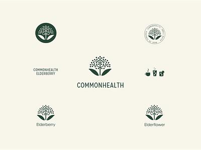 Commonhealth Elderberry Branding elderberry health wellness packaging design logo identity typography charlottesville richmond graphic design elements branding