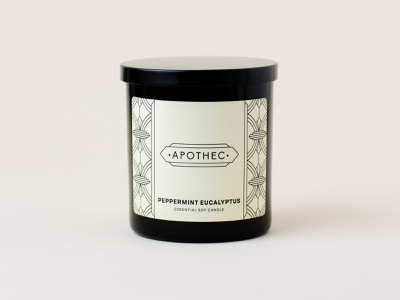 Apothec Packaging Design candle packaging health wellness design label design modern typography packaging design branding