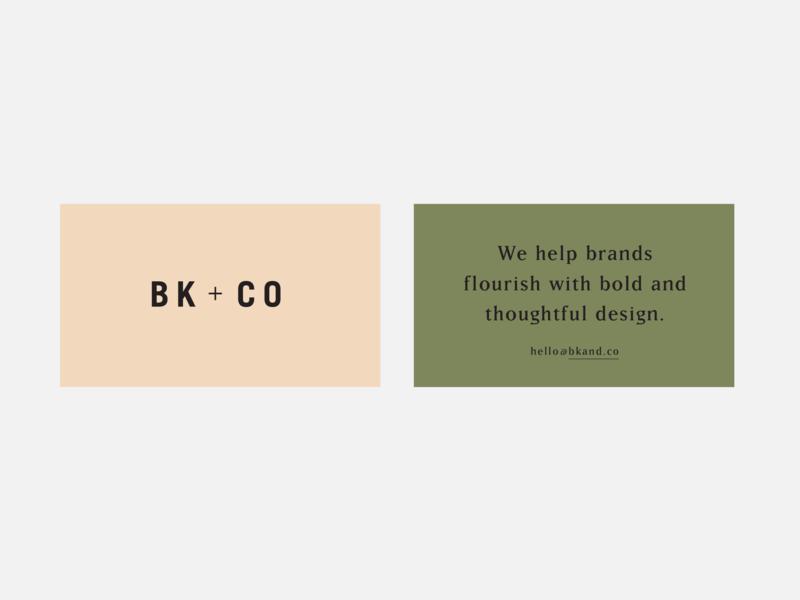 BK+Co modern logo identity graphic design classic richmond branding
