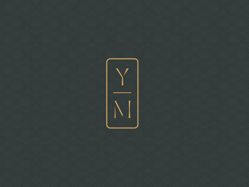 YM typography monogram mark modern graphic design classic logo branding