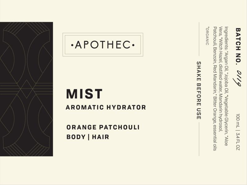 Apothec skincare typography labels packaging design elements richmond branding