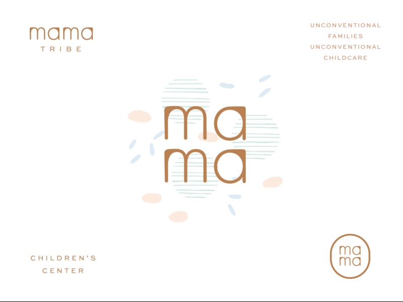 Mamma Tribe Final Constructions & Marks illustration graphic design modern typography richmond identity elements logo branding