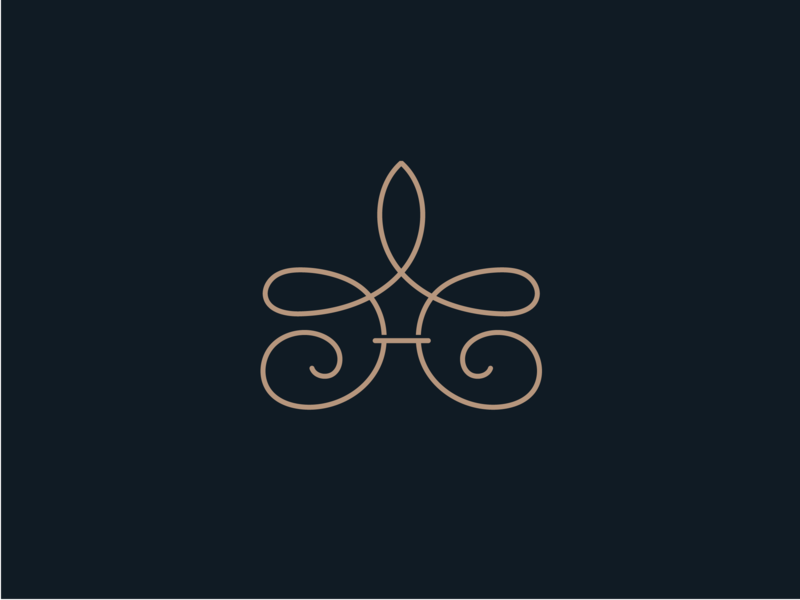 Monogram identity graphic design classic logo elements branding