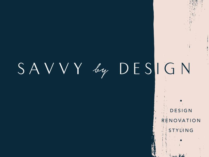 Savvy By Design business card richmond typography identity logo branding