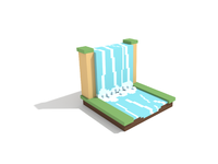 Voxel Waterfall
