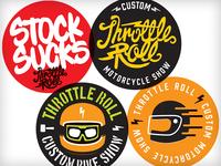 "Throttle Roll ""15 - Sticker Pack"