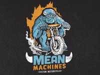 Mean Machines Tshirt - Go Gorilla - New Collection