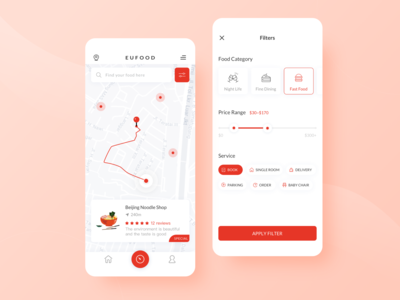 EUFOOD-A Food Finder Application