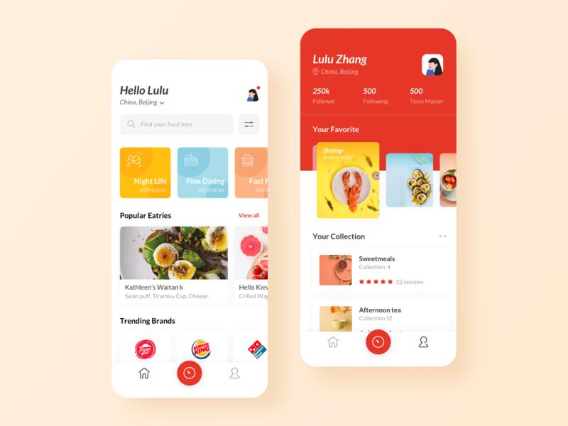 Food Finder Application illustration app ui ux design