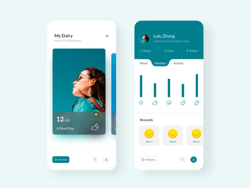 Dairy Application typography icon illustration app ui ux design