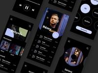Confinement ui player fun apps webdesign design music player ui