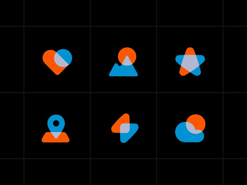 icons transparency