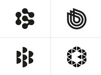 logo b exploration bw sketch icons grid logo simple geometry app design apps monogram design vector branding ui round brand logotype b letter minimal logo