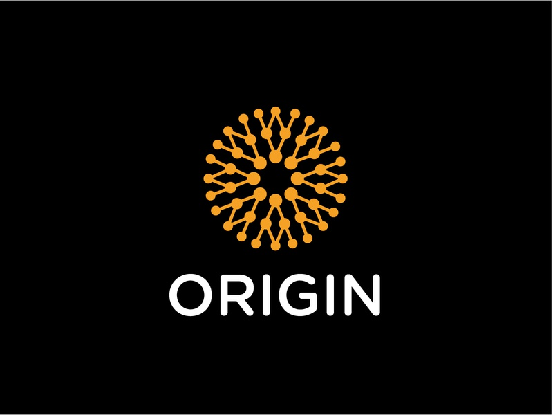 origin abstract line fun gradient brand logotype design monogram letter minimal logo