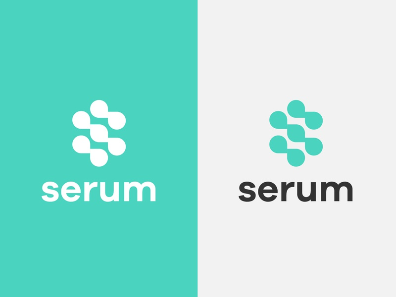 logo serum abstract round ui gradient brand logotype design monogram letter minimal logo