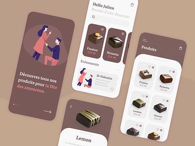 apps chocolat iphone design chocolat apps mobile uxui ui