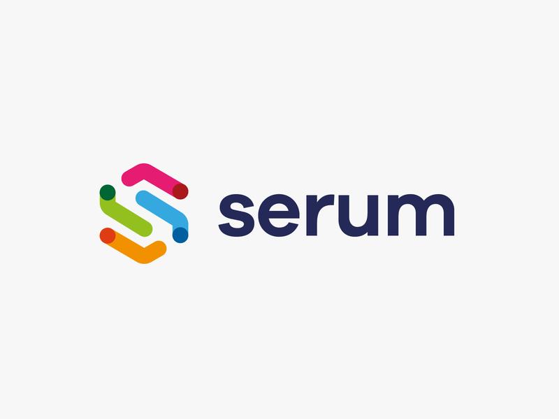 logo S - Serum line fun gradient brand logotype design monogram letter minimal logo