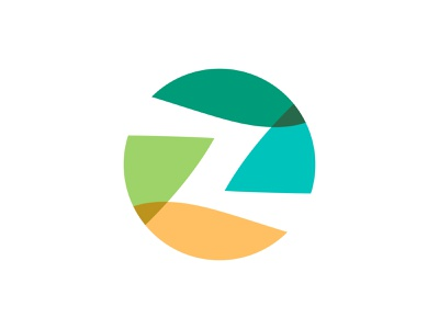 logo z simple relift line fun gradient brand logotype design monogram letter minimal logo