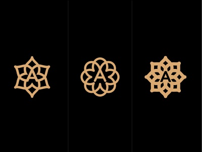 ornament A minimal a logotype design monogram letter minimal logo