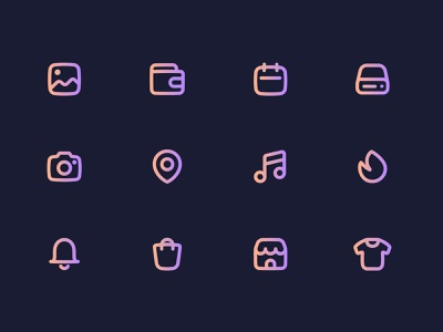 Icons Gradient iconset icons line ui vector illustration gradient design minimal