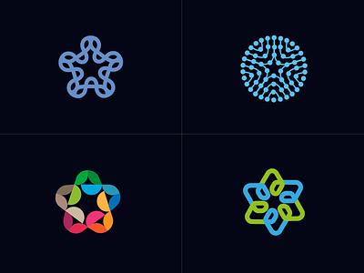 star  V1 exploration line fun gradient brand logotype design monogram letter minimal logo