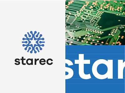 concept star electronic electronic star line fun gradient brand logotype design monogram letter minimal logo