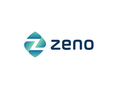 zeno v2 z line fun gradient brand logotype design monogram letter minimal logo