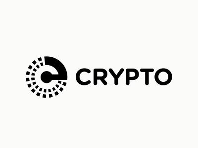 logo crypto letter c line fun gradient brand logotype design monogram letter minimal logo