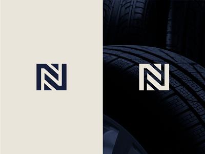 newtire - Letter N + Tire n letterforms monogram logo tire