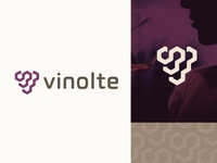 Logo grape exploration - vine - version geometric minimal
