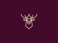 Logo deer minimal