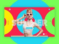 Summer colors pop