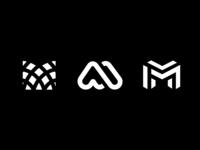 Logo M fun minimal