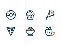 icons food minimal