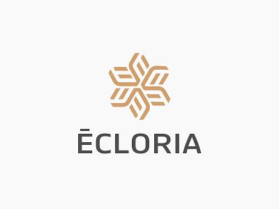 Letter E + flower brand monogram design flower letter minimal logo