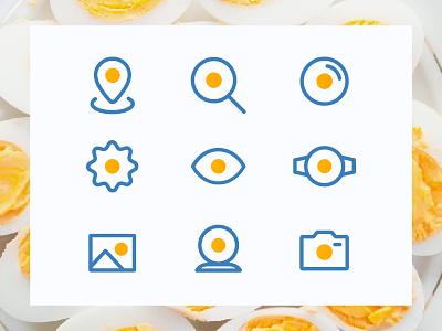 Icons Eggs - Fun minimal settings here fun gradient brand ui icons egg eggs minimal