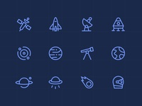 Icons space minimal - Oriona