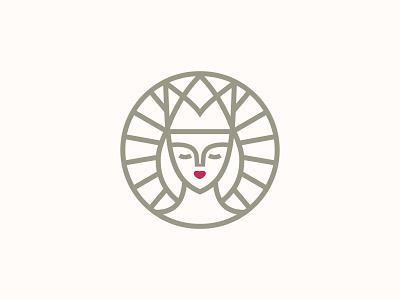 Face Queen lift queen face logotype design minimal logo