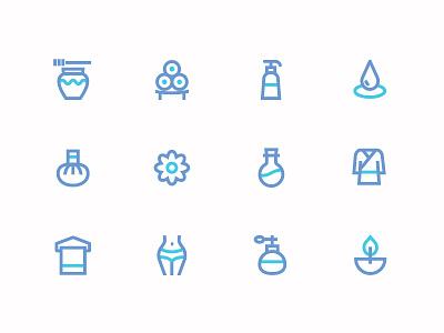 minimal icons spa beauty illustration vector ui spa beauty minimal icons