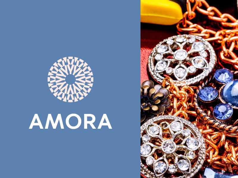 Amora 4/5 minimal design monogram letter minimal logo