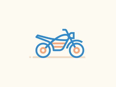 Icons Minimal Motocross illustration vector minimal motorbike moto icons