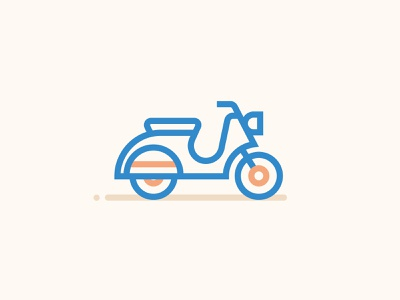 Icons scooter motor scooter vector ui illustration icons minimal