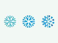 minimal snowflakes